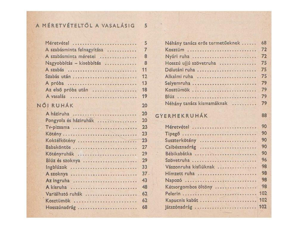 8d1a3b7bcf Női ruhák, gyermekruhák - Bajzáth Ferencné - Régikönyvek webáruház