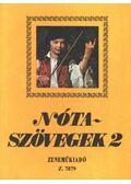 Nótaszövegek 2. - Leszler József