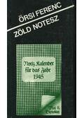 Zöld Notesz - Örsi Ferenc