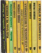 10 db vegyes krimi - Több szerző