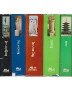 10 db vegyes útikönyv - Több szerző