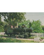 1000 mm nyomtávolságú, iparvasúti mozdony 1900. (képeslap)