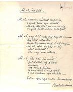 Ah, ah édes föld... című versének kézirata - Bartalis János