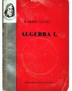 Algebra I. - Kardos Gyula