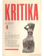 Kritika 1970. április 4. szám - Almási Miklós és Diószegi András és Wéber Antal (szerk.)