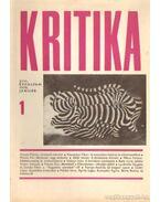 Kritika 1970. január 1. szám - Almási Miklós és Diószegi András és Wéber Antal (szerk.)
