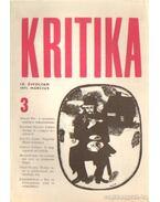 Kritika 1971. március 3. szám - Almási Miklós és Diószegi András és Wéber Antal (szerk.)