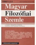 Magyar Filozófiai Szemle 1996/1-2-3 - Áron László