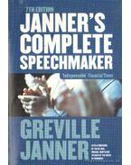 Janner's complete speechmaker (angol-nyelvű) - Janner, Greville