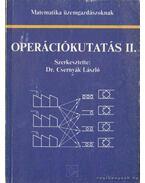 Operációkutatás II. - Dr. Csernyák László