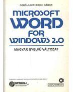 Microsoft Word for Windows 2.0 - Gerő Judit - Reich Gábor