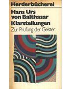 Klarstellungen - Hans Urs von Balthasar
