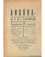 Angóra - Nyúl tenyésztése takarmányozása; Gyapjú fonása feldolgozása - Köves Gábor Zoltán