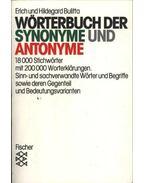 Wörterbuch der synonyme und antonyme - Bulitta, Erich, Bulitta, Hildegard