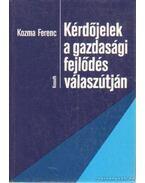 Kérdőjelek a gazdasági fejlődés válaszútján - Kozma Ferenc