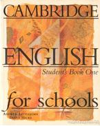 Cambridge English for schools - Student's Book One - Littlejohn, Andrew, Hicks, Diana