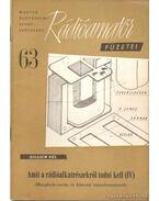 Rádióamatőr füzetei 63 - Zillich Pál