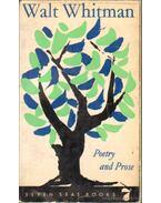 Poetry and Proze - Walt Whitman