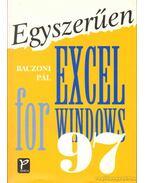 Egyszerűen Excel for Windows 97 - Baczoni Pál