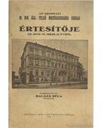 Az orosházi M. Kir. állami felső mezőgazdasági iskola értesítője az 1930-31. iskola évről - Balázs Béla