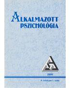Alkalmazott Pszichológia 2000 II. évf. 1. szám - Balogh László