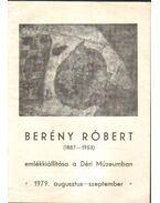Berény Róbert emlékkiállítása - Szíj Béla