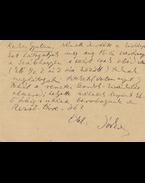 Berda József (1902–1966) költő saját kézzel írt levelezőlapja László Gyula (1910–1998) volt régészprofesszornak - Berda József