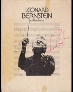 Leonard Bernstein (1918–1990) amerikai zeneszerző, karmester aláírása és portréja (1976) - Bernstein, Leonard