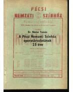 A Pécsi Nemzeti Színház operatársulatának 25 éve - Dr. Nádor Tamás