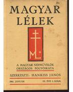 Magyar Lélek 1941. január - Hankiss János