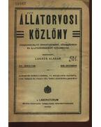 Állategészségügyi közlöny XVI. évfolyam 1918. december - Lukács Aladár