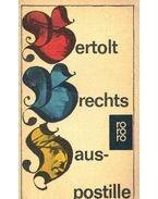 Hauspostille - Brecht, Bertolt