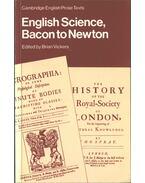 English Science: Bacon to Newton - Brian Vickers