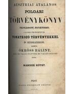 Ausztriai általános polgári törvénykönyv I- ll. kötet - Ökröss Bálint