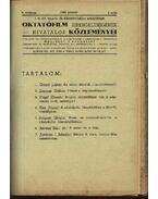 A M. Kir. Valllás- és Közoktatásügyi Minisztérium Oktatófilm kirendeltségének hivatalos közleményei - Geszti Lajos