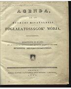 Agenda az az: egyházi hivatalbeli foglalatosságok módja - Az agusztai hitvallást követő evangélikusok dunántúli szuperintendentziája