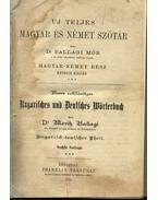 Uj teljes magyar és német szótár (1914) - Ballagi Mór
