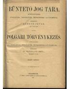 Büntető jog tára, Polgári törvénykezés XXXIV. kötet (1897. év) - Németh Péter - Dr. Glücklich Emil (szerk.)