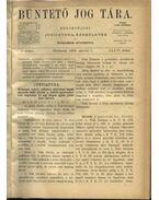 Büntető jog tára, Polgári törvénykezés XXXVI. kötet (1898. év) - Németh Péter - Dr. Glücklich Emil (szerk.)