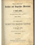 Uj teljes német és magyar szótár - Ballagi Mór