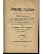 Hitelelemzés példákban III. - Nagy Antal