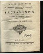 De Sacramentis in genere baptismo et confirmationw - Bertieri, Joseph fr.