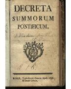 Decreta summorum pontificum