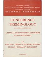 Conference Terminology: A manual for conference members and interpreters