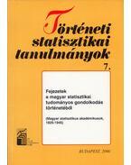Fejezetek a magyar statisztikai tudományos gondolkodás történetéből - Csahók István, Nyitrai Ferencné