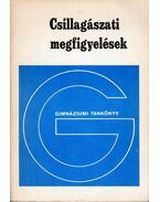 Csillagászati megfigyelések - Csaba György