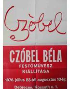 Czóbel Béla 1976-os debreceni kiállításának plakátja
