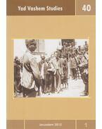 Yad Vashem Studies 40 - David Silberklang