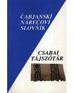 Csabai tájszótár - Dediszky Gyula, Andó György, Mazán Mátyás