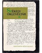 Székely oklevéltár II. - Demény Lajos, Pataki József